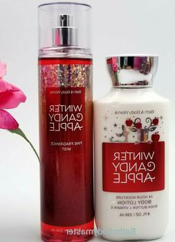 Bath and Body works WINTER CANDY APPLE Body LOTION & Fragran